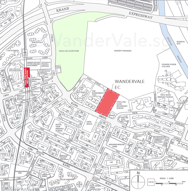 Wandervale EC Location Plan